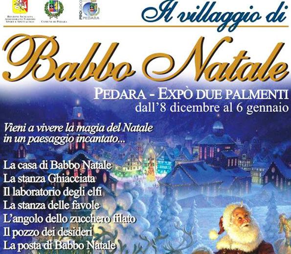 Il Percorso Di Babbo Natale.Natala A Pedara Expo Christmas Village I Mercatini